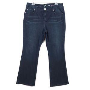 INC Boot Leg Dark Wash Stretch Jeans Womens 12 PS